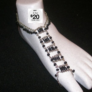 Jewelry - Slave Foot Anklet Thong One Size Fits Black